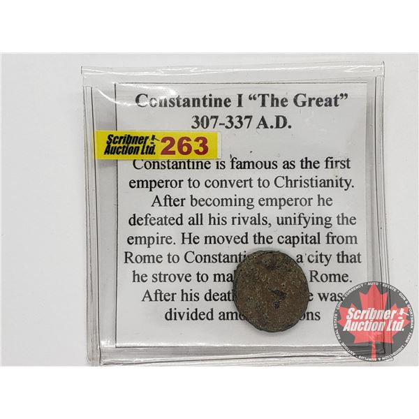 """Ancient Coin: Constantine I """"The Great"""" 307-337AD"""
