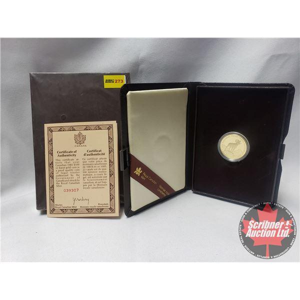 RCM 1985 Canada National Parks $100 Dollar 1/2 Oz Gold Proof Coin COA #039307