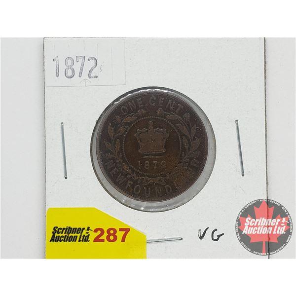 Newfoundland One Cent 1872