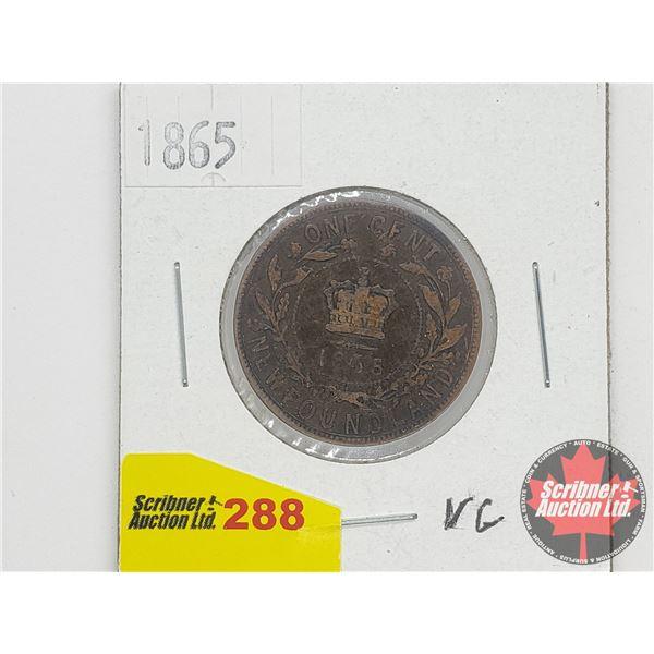 Newfoundland One Cent 1865