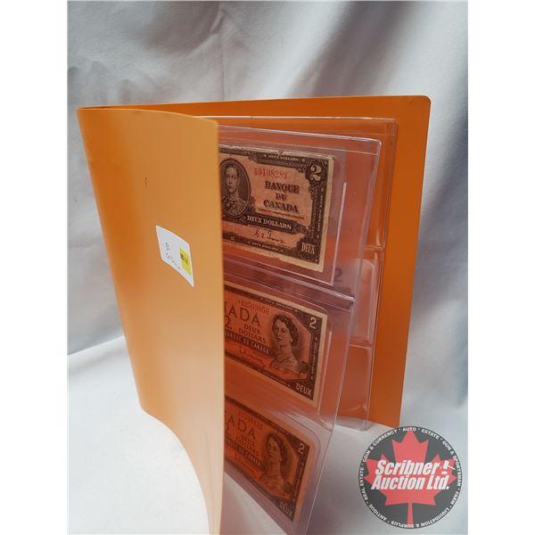 Canada $2 Bills (5) : 1937; 1954; 1954; 1974; 1986 (See Pics for Serial #'s & Signatures)