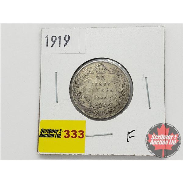 Canada Twenty Five Cent 1919