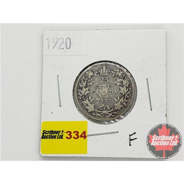 Canada Twenty Five Cent 1920