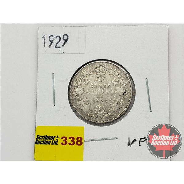Canada Twenty Five Cent 1929