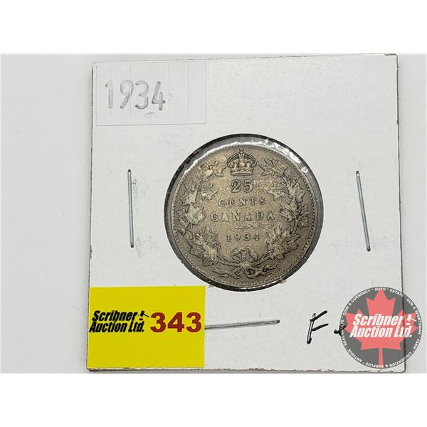 Canada Twenty Five Cent 1934
