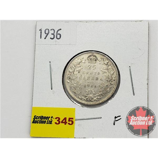 Canada Twenty Five Cent 1936