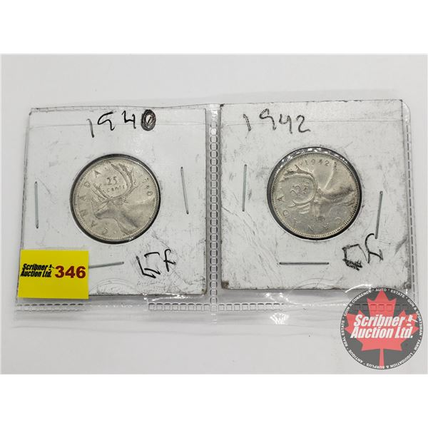 Canada Twenty Five Cent (2): 1940; 1942