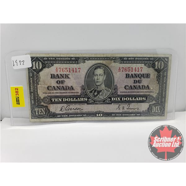 Canada $10 Bill 1937 : Gordon/Towers #XD7651417