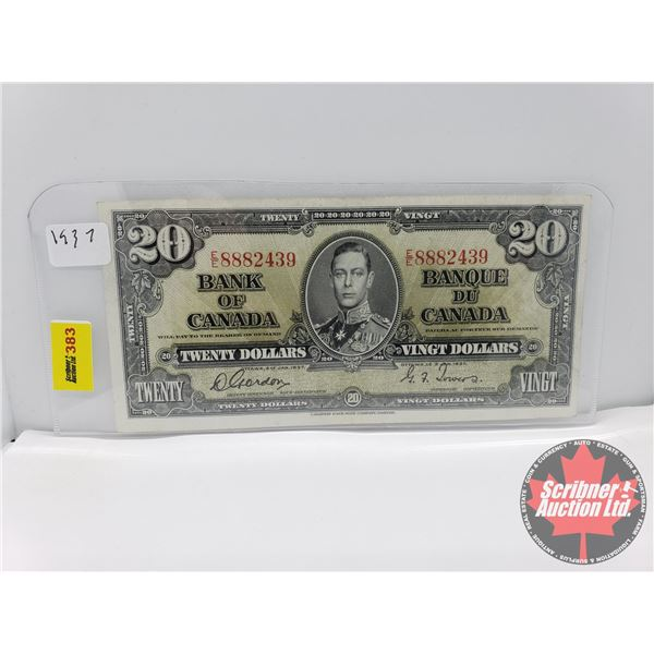 Canada $20 Bill 1937 : Gordon/Towers #EE8882439