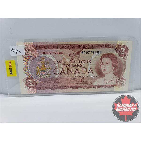 Canada $2 Bill 1974 : Lawson/Bouey #RC0779445