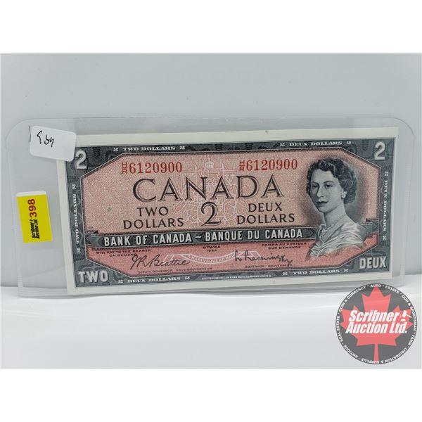 Canada $2 Bill 1954 : Beattie/Rasminsky #HR6120900