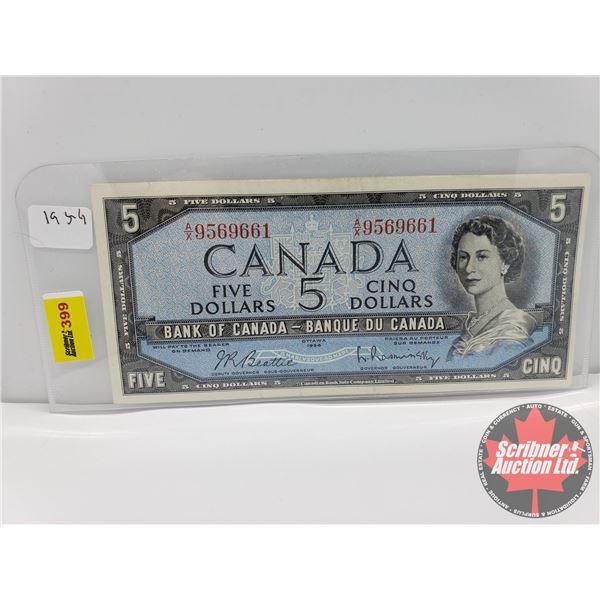 Canada $5 Bill 1954 : Beattie/Rasminsky #AX9569661