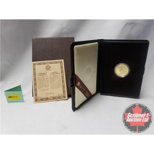 RCM 1985 Canada National Parks $100 Dollar 1/2 Oz Gold Proof Coin COA #039305