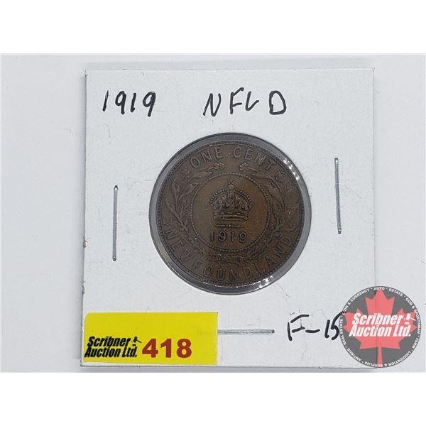 Newfoundland Large Cent 1919