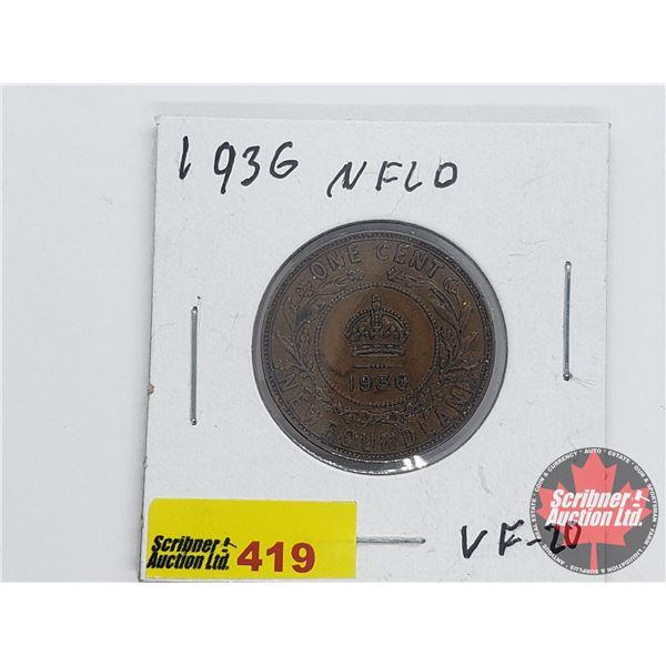 Newfoundland Large Cent 1936