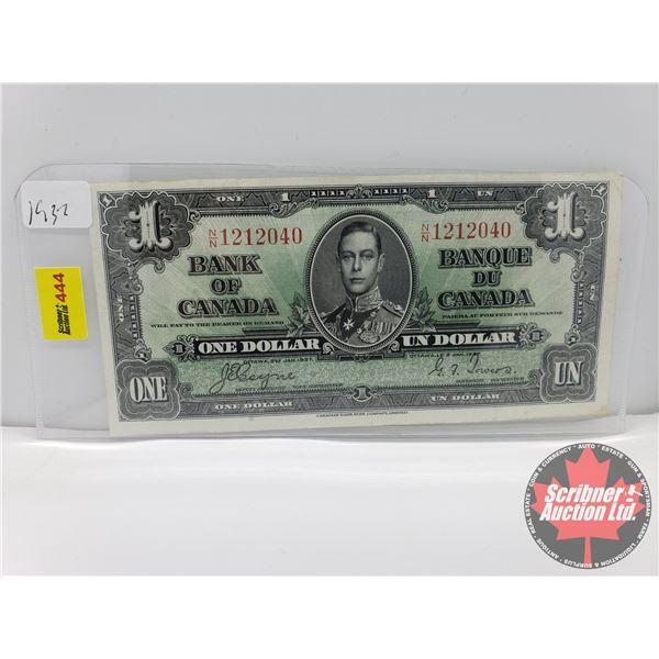 Canada $1 Bill 1937 : Coyne/Towers S/N#NN1212040