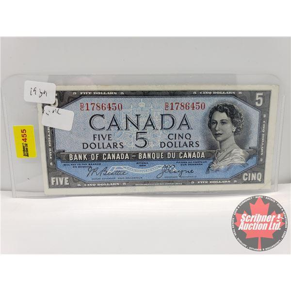 "Canada $2 Bill 1954DF ""Devils Face"" : Beattie/Coyne S/N#DC1786450"