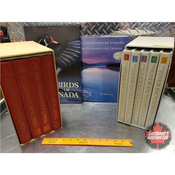 Canadian Encyclopedia Book Set, Junior Encyclopedia Book Set & Birds of Canada Book