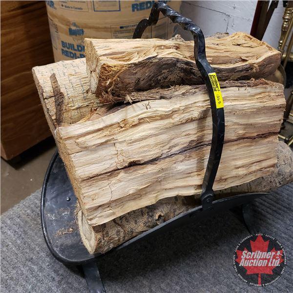 Fireplace Wood Holder w/Logs