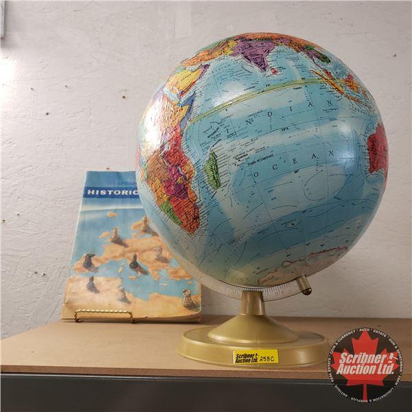 Globe w/Hammonds Historical Atlas