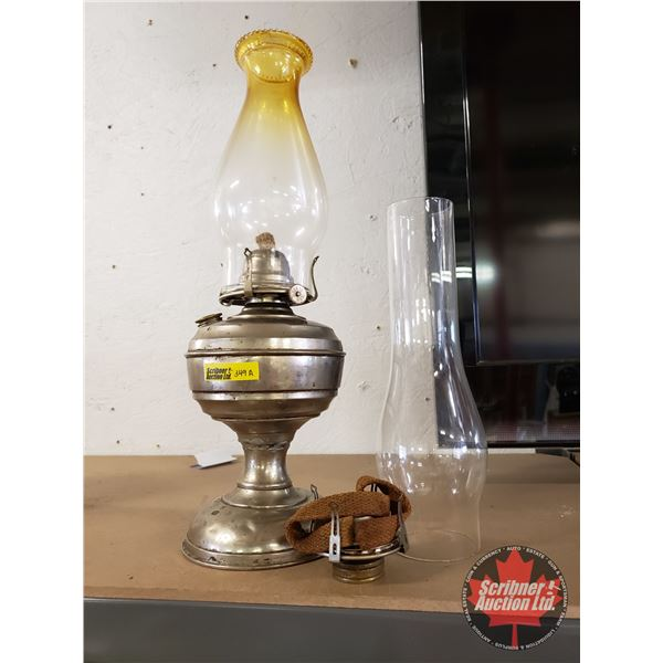 Coal Oil Lamp w/Extra Chimney & Burner
