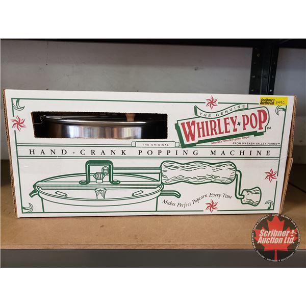 The Genuine Whirley Pop Hand Crank Popping Machine in Box