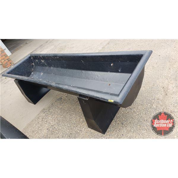 Plastic Black Trough (8ft)