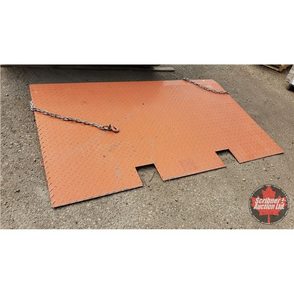 """Sea Container Steel Ramp (6-1/2""""H x 83""""W x 49-1/2""""L)"""