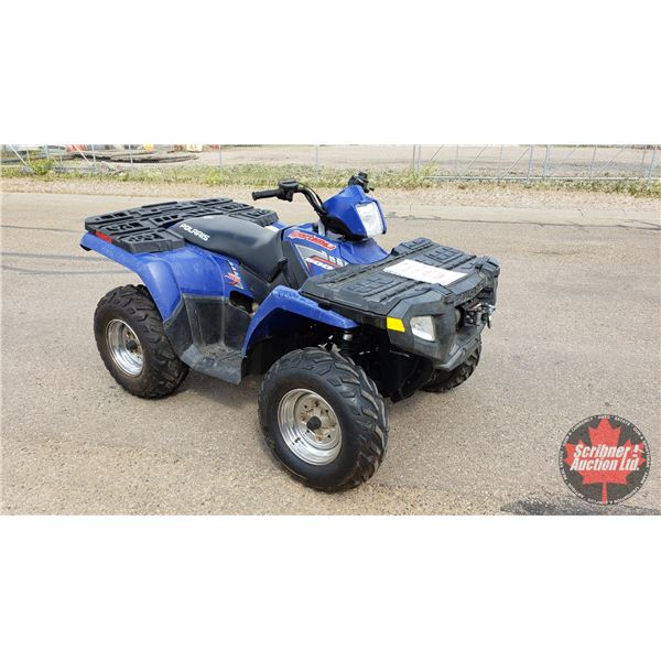 QUAD: 2005 Polaris 4x4 Sportsman 500 H.O. with Winch (Runs & Drives, Slight Tick) S/N#4XAMH50AX5B425