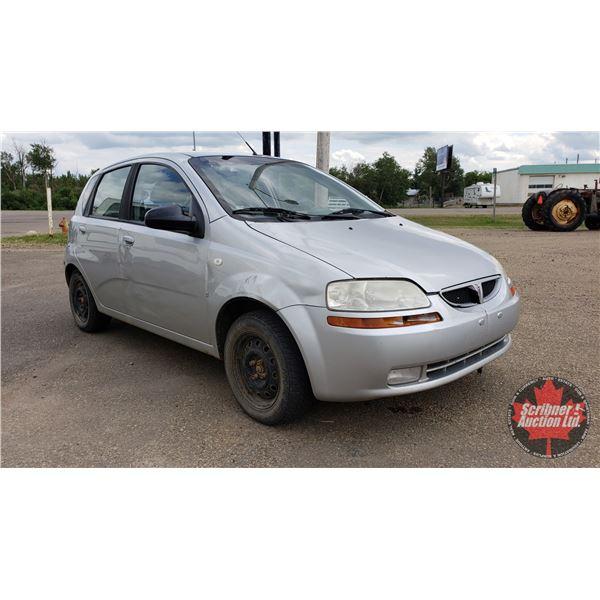 2007 Pontiac Wave Hatchback (Manual) (c/w 5 Extra Tires) S/N#KT2TD65687B770014