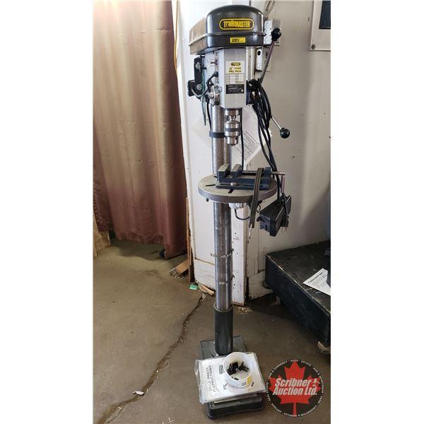 """Trademaster TM12108 (Model) 13"""" Floor Drill Press 16 Speed 115 Volt (64""""H)"""