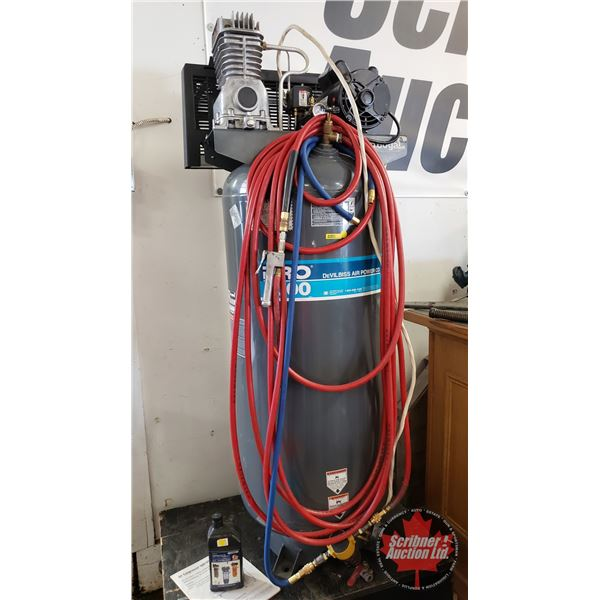 """Devilbiss Pro 4000 Air Compressor 6.5hp 60gal (c/w Compressor Oil) (63-1/2""""H)"""