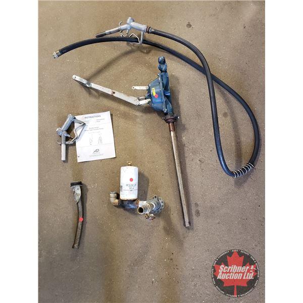 Double Action Piston Type Transfer Pump w/Nozzles, Hose, etc