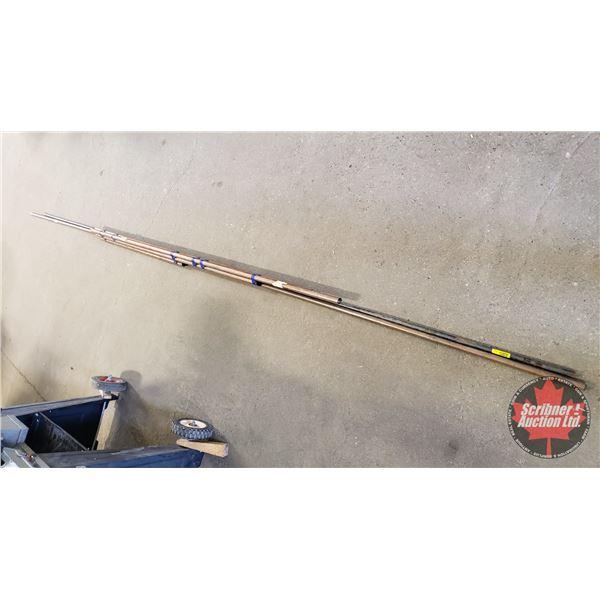"""Copper Tubing (3-/4"""" = 6ft , 5-1/2ft , 4-1/2ft , 2-1/2ft) & (1/2"""" = 12ft) & Steel Rod (1/2"""" = 11ft)"""