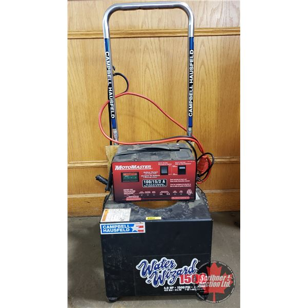 Battery Charger (Motomaster) w/Cart