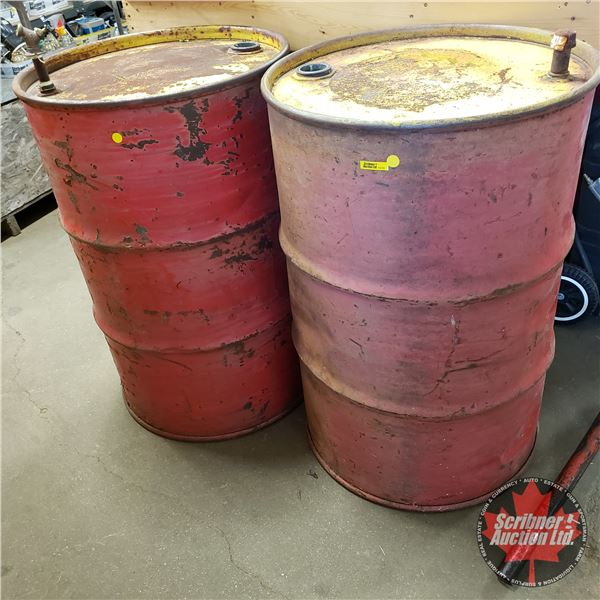 """Metal Water Barrels (2) (36""""H)"""
