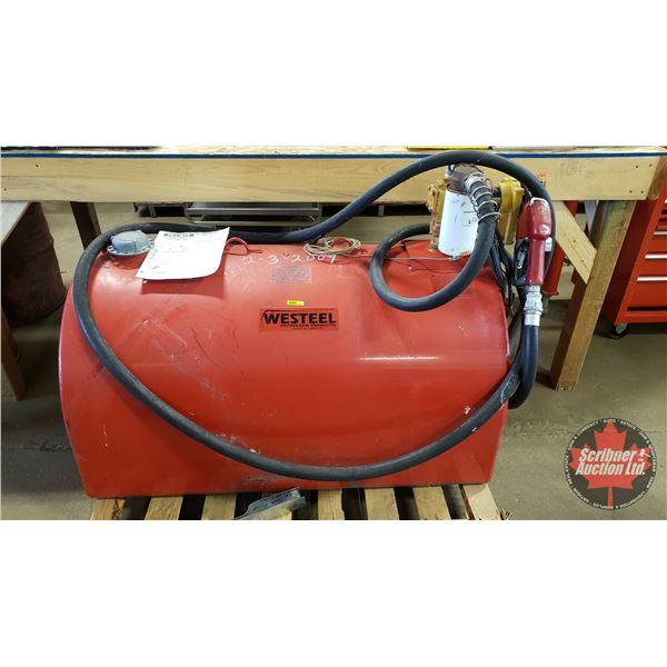 """Westeel Slip Tank w/Fill-Rite Auto Nozzle (24""""H x 46""""L)"""