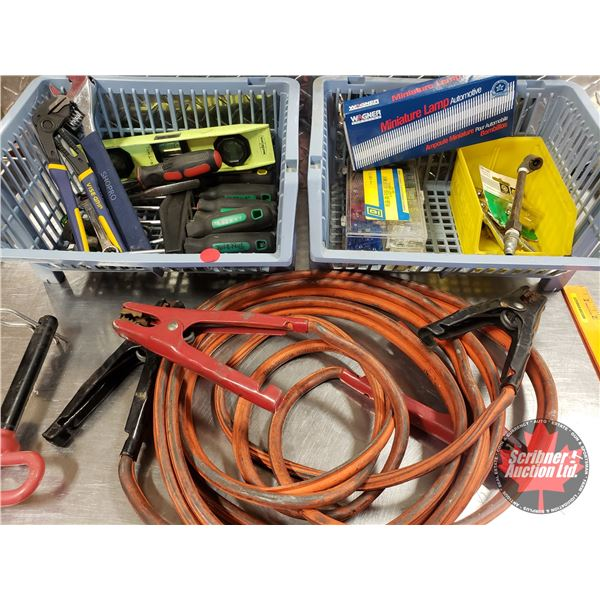 Car Kit: Booster Cables, Fuses, Tire Gauges, Crescent Wrench, Screwdrivers, etc (SEE PICS!)
