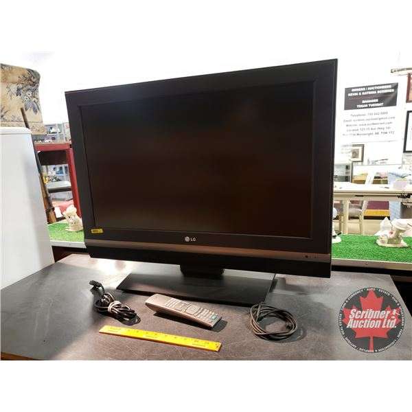 """32"""" Flatscreen TV w/Remote (Total Size: 25""""H x 31""""W x 5-1/2""""D)"""