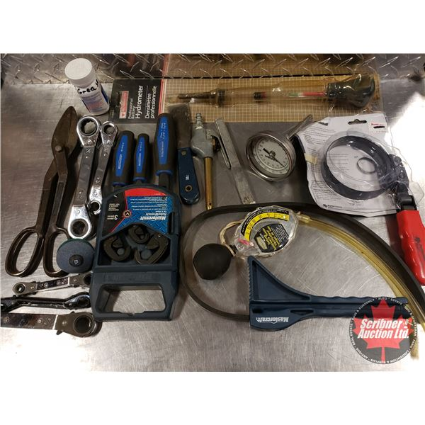 Tray Lot: Anti-Freeze Test, Hydrometer, Air Tools, Robo Wrenches, etc (SEE PICS!)