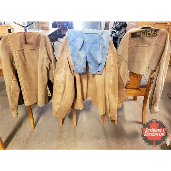 Leather Welding Jackets (3) & Sleeves