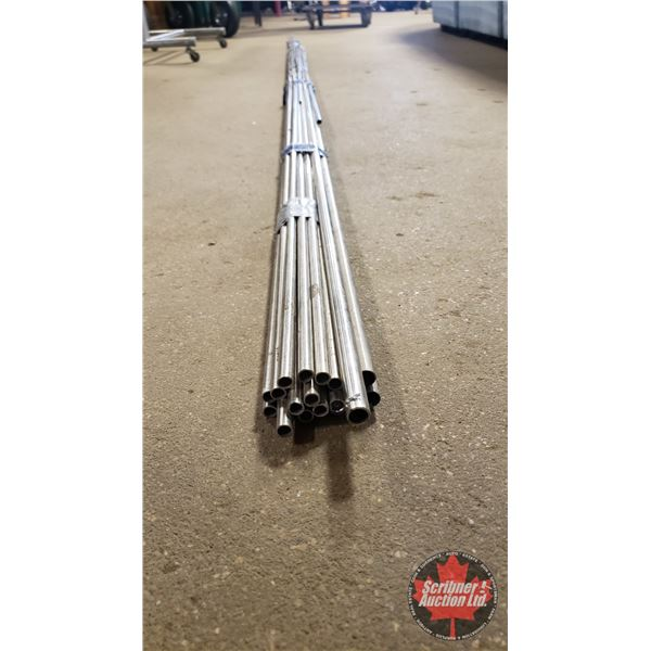 """Stainless Steel Tubing : 3/8"""" ID (3 of 8' Lengths) AND 1/4""""ID (7 of 8' Lengths) AND 1/4""""ID (8 of 11"""