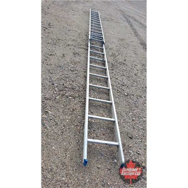 Alum. Extension Ladder with Ladder Bumpers (in pkgs) (21ft Fully Extended / 12ft not extended)