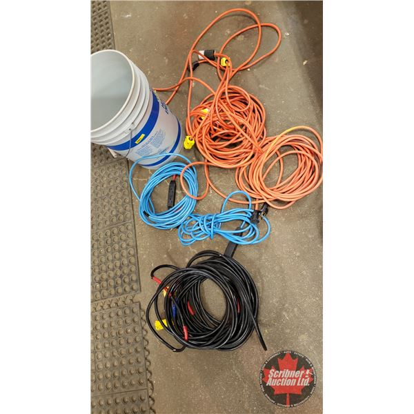 Pail of Cords (See Pics!)