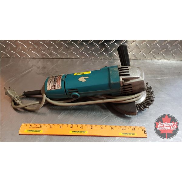 """Makita Angle Grinder 5"""" w/Wire Disc"""