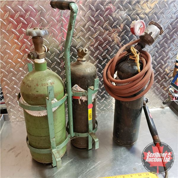 Oxygen / Acetylene Kit (Hand Held) with Additional Acetylene Tank (Empty) (Total Height incl. Carrie