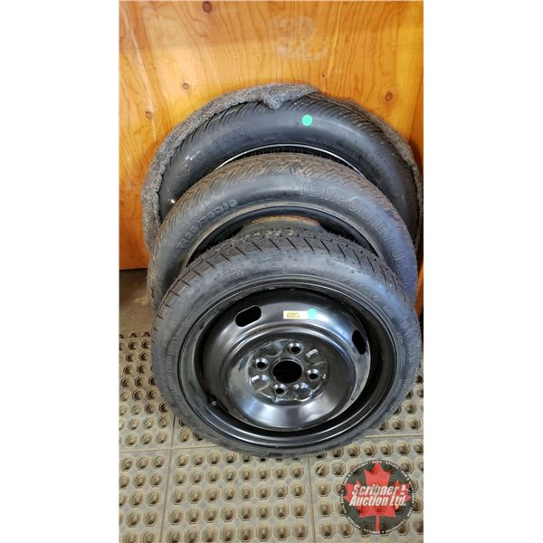 Tires on Rims (3) : T125/80D16, T125/70D15, T115/70D14 (All Temporary Tires)