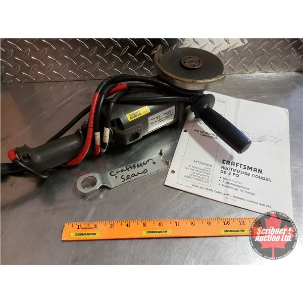 """Mastercraft 5"""" Angle Grinder with Wrench"""