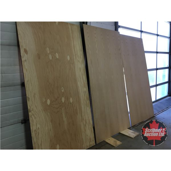 "Plywood (3 Sheets 4ft x 8ft) (1 Sheet of 3/4"" Grade BD) & (2 Sheets of 7/16"" Grade AA Good Both Side"
