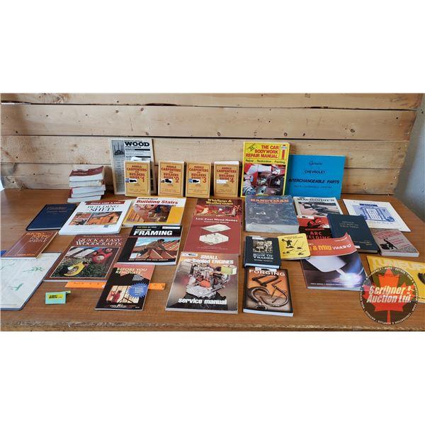 BOOKS (34) : Handyman Theme (Incl: Manuals, Repair, Welding, Carpentry & Trades Hand Books) (SEE PIC
